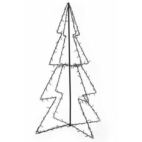 Cono árbol de Navidad de 160 LED interior y exterior 78x120 cm