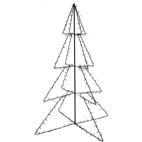 Cono árbol de Navidad de 240 LED interior y exterior 115x150 cm