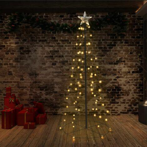 Cono de 96 LED árbol de Navidad interior y exterior 72x180 cm