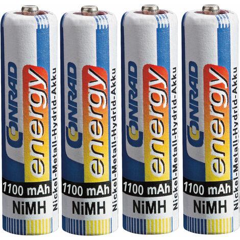 Conrad Energy 251111 AAA Rechargeable battery x4 NiMH 1100 mAh 1.2V