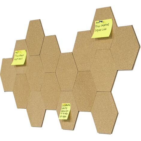 Conseil Hexagone Cork avec Pins - Lot de 8 | Pukkr