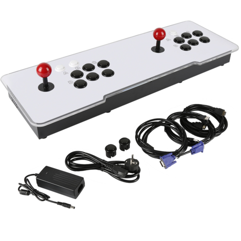 Consola de Juegos Doble Controlador USB Gaming Joystick Rocker Juegos clásicos Consola de Videojuegos