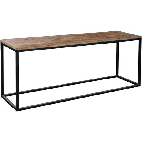 Consola de madera de olmo reciclado y hierro. Serie Nege - 50191001042464