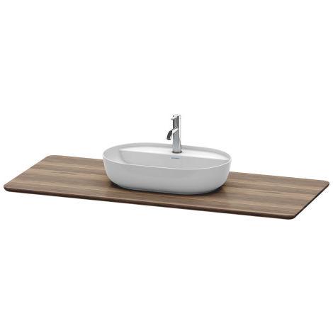 Consola de madera maciza Duravit Luvit LU9461, anchura 1388mm, adecuada para lavabo LU9561, LU9566 - LU946107777