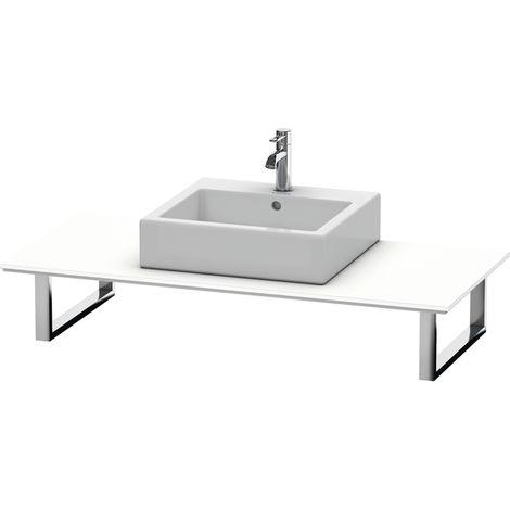 Consola Duravit X-Large para lavabos de sobremesa y lavabos empotrados, 026C, con un hueco, para esquina izquierda, profundidad 550 mm, Color (frente/cuerpo): Blanco Mate Decoración - XL026C01818