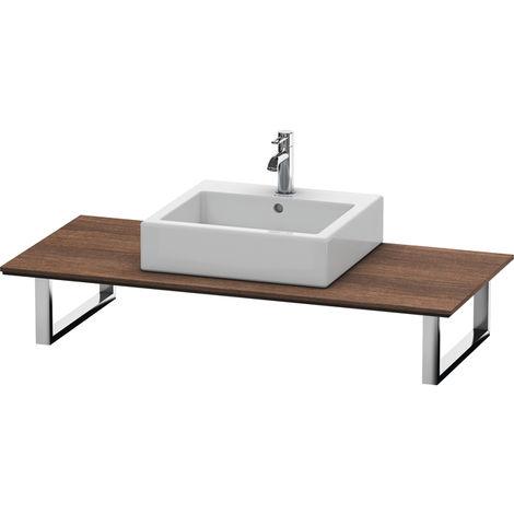Consola Duravit X-Large para lavabos de sobremesa y lavabos empotrados, 026C, con un hueco, para esquina izquierda, profundidad 550 mm, Color (frente/cuerpo): Castaño Oscuro - XL026C05353