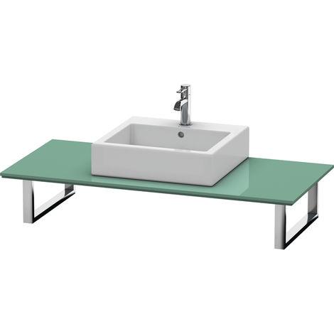 Consola Duravit X-Large para lavabos de sobremesa y lavabos empotrados, 026C, con un hueco, para esquina izquierda, profundidad 550 mm, Color (frente/cuerpo): Jade laca alto brillo - XL026C00303