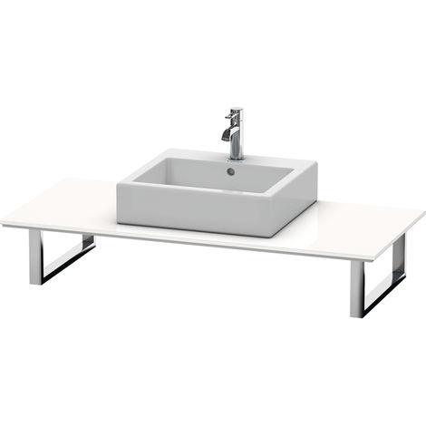 Consola Duravit X-Large para lavabos de sobremesa y lavabos empotrados, 026C, con un hueco, para esquina izquierda, profundidad 550 mm, Color (frente/cuerpo): Laca blanca de alto brillo - XL026C08585