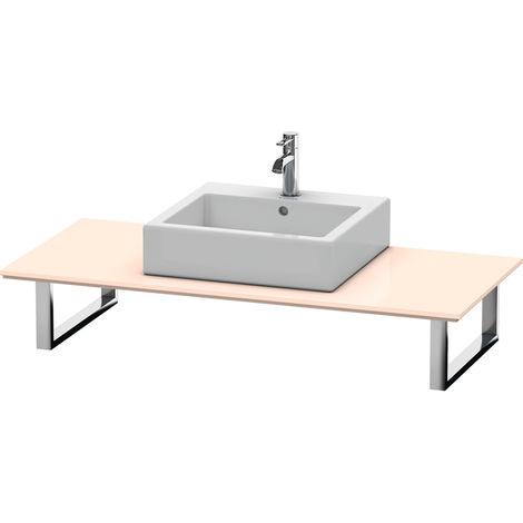 Consola Duravit X-Large para lavabos de sobremesa y lavabos empotrados, 026C, con un hueco, para esquina izquierda, profundidad 550 mm, Color (frente/cuerpo): Perla de albaricoque laca de alto brillo - XL026C01010