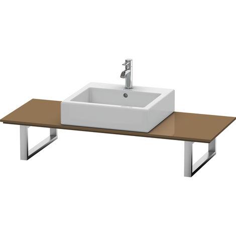 Consola Duravit X-Large para lavabos de sobremesa y lavabos empotrados, 027C, con un hueco, para esquina derecha, profundidad 550 mm, Color (frente/cuerpo): Marrón Oliva Laca Alto Brillo - XL027C06161