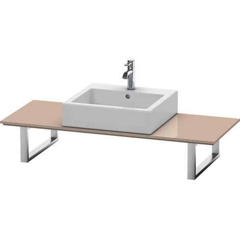 Consola Duravit X-Large para lavabos de sobremesa y lavabos empotrados, 028C, con un hueco, para nicho, profundidad 550 mm, Color (frente/cuerpo): Cappuccino laca alto brillo - XL028C08686