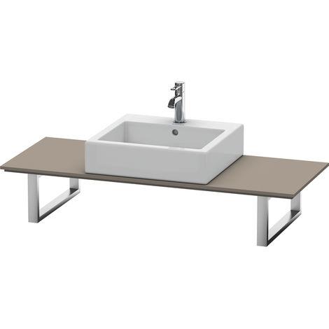 Consola Duravit X-Large para lavabos de sobremesa y lavabos empotrados, 028C, con un hueco, para nicho, profundidad 550 mm, Color (frente/cuerpo): Flanela Gris seda lacado mate - XL028C09090