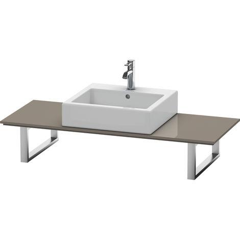 Consola Duravit X-Large para lavabos de sobremesa y lavabos empotrados, 028C, con un hueco, para nicho, profundidad 550 mm, Color (frente/cuerpo): Laca de color gris franela de alto brillo - XL028C08989