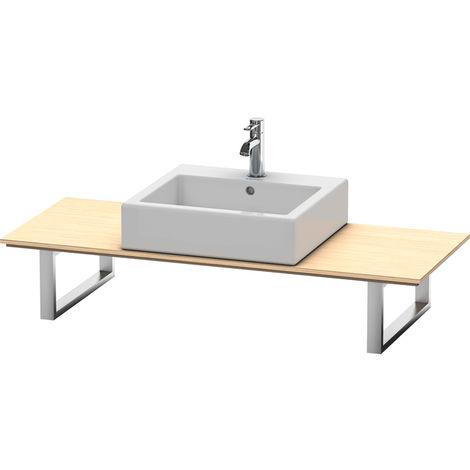 Consola Duravit X-Large para lavabos de sobremesa y lavabos empotrados, 028C, con un hueco, para nicho, profundidad 550 mm, Color (frente/cuerpo): Roble cepillado Chapa de madera auténtica - XL028C01212