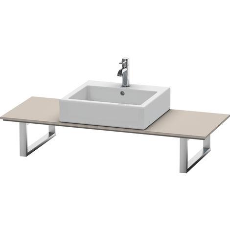 Consola Duravit X-Large para lavabos de sobremesa y lavabos empotrados, 028C, con un hueco, para nicho, profundidad 550 mm, Color (frente/cuerpo): Terra Mate - XL028C01414