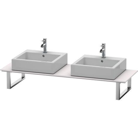 Consola Duravit X-Large para lavabos de sobremesa y lavabos empotrados, 046C, con dos orificios, para esquina izquierda, profundidad 550 mm, Color (frente/cuerpo): Blanco Lila Seda Laca mate - XL046C08787