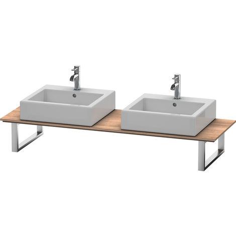 Consola Duravit X-Large para lavabos de sobremesa y lavabos empotrados, 046C, con dos orificios, para esquina izquierda, profundidad 550 mm, Color (frente/cuerpo): Cerezo del Tesino - XL046C07373