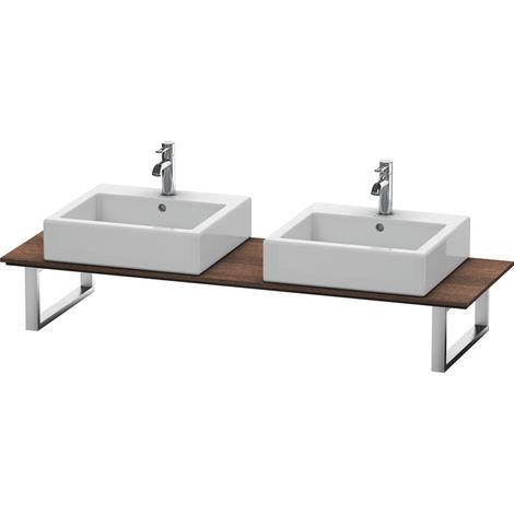 Consola Duravit X-Large para lavabos de sobremesa y lavabos empotrados, 047C, con dos orificios, para esquina derecha, profundidad 550 mm, Color (frente/cuerpo): Castaño Oscuro - XL047C05353