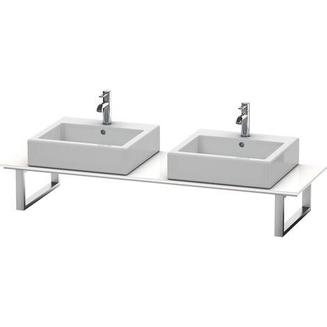 Consola Duravit X-Large para lavabos de sobremesa y lavabos empotrados, 047C, con dos orificios, para esquina derecha, profundidad 550 mm, Color (frente/cuerpo): Decoración blanca de alto brillo - XL047C02222