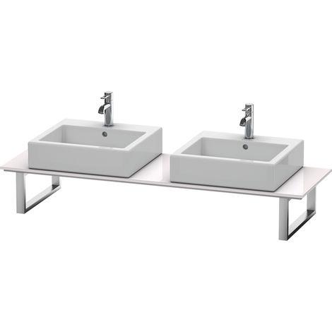 Consola Duravit X-Large para lavabos de sobremesa y lavabos empotrados, 047C, con dos orificios, para esquina derecha, profundidad 550 mm, Color (frente/cuerpo): Laca blanca lila alto brillo - XL047C02727