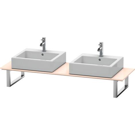 Consola Duravit X-Large para lavabos de sobremesa y lavabos empotrados, 047C, con dos orificios, para esquina derecha, profundidad 550 mm, Color (frente/cuerpo): Perla de albaricoque laca de alto brillo - XL047C01010