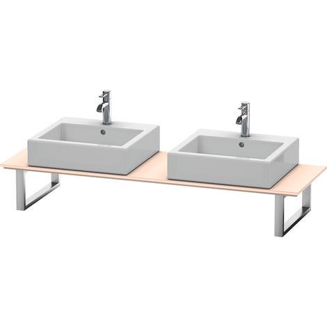 Consola Duravit X-Large para lavabos de sobremesa y lavabos empotrados, 048C, con dos orificios, para nicho, profundidad 550 mm, Color (frente/cuerpo): Albaricoque Perla seda laca mate - XL048C02020
