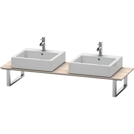 Consola Duravit X-Large para lavabos de sobremesa y lavabos empotrados, 048C, con dos orificios, para nicho, profundidad 550 mm, Color (frente/cuerpo): Decoración Pino Plata - XL048C03131