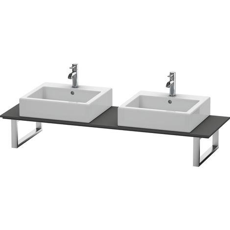 Consola Duravit X-Large para lavabos de sobremesa y lavabos empotrados, 048C, con dos orificios, para nicho, profundidad 550 mm, Color (frente/cuerpo): Grafito Mate Decoración - XL048C04949