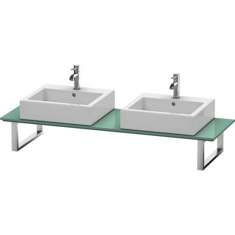 Consola Duravit X-Large para lavabos de sobremesa y lavabos empotrados, 048C, con dos orificios, para nicho, profundidad 550 mm, Color (frente/cuerpo): Jade laca alto brillo - XL048C00303