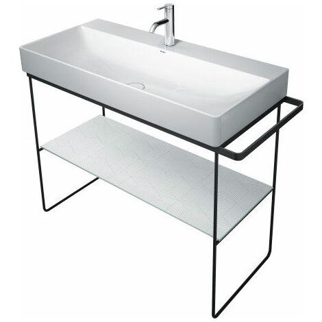 Consola metálica Duravit DuraSquare 106,5x45,1cm, para lavabo 235310, de pie en el suelo, color: Negro Mate - 0031034600