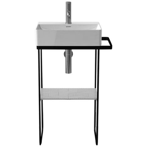 Consola metálica Duravit DuraSquare 51,6x33,3cm, para lavabo 073245, de pie, color: Negro Mate - 0031094600