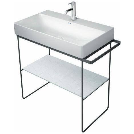 Consola metálica Duravit DuraSquare 86,5x45,1cm, para lavabo 235380, de pie, color: Negro Mate - 0031114600