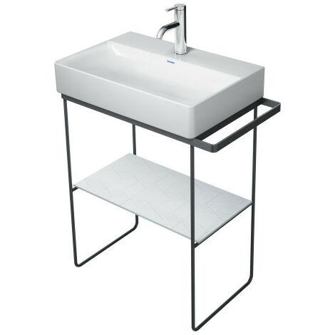 Consola metálica Duravit DuraSquare de 66,5 x 45,1 cm, para lavabo 235660, toallero, soporte de suelo, color: cromado - 0031131000