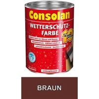 Consolan Wetterschutz Farbe braun 0,75 L