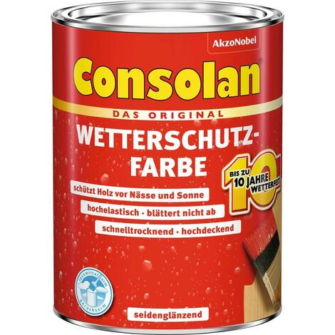 CONSOLAN Wetterschutzfarbe Rot 750ml - 5087466