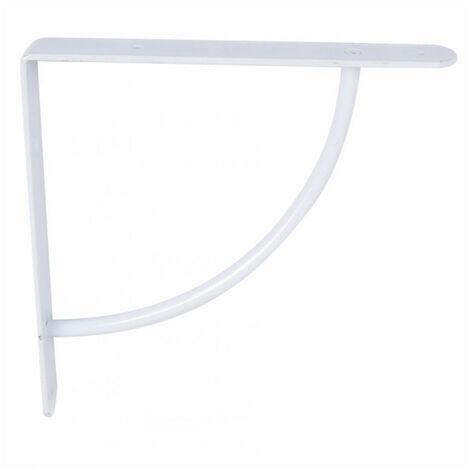 Console 1/4 cercle simple acier blanc - plusieurs modèles disponibles