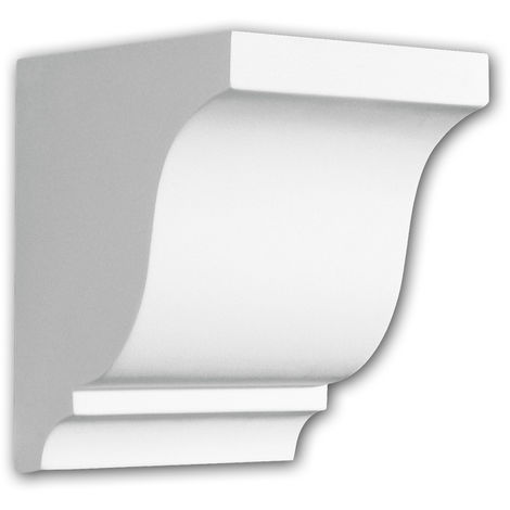 Console 119003 Profhome Élement décorative style dorique blanc