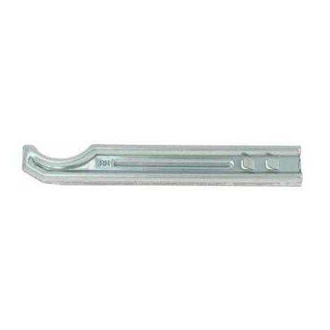 Console à sceller en U pour radiateur fonte - Acier zingué blanc - Axe 195 mm