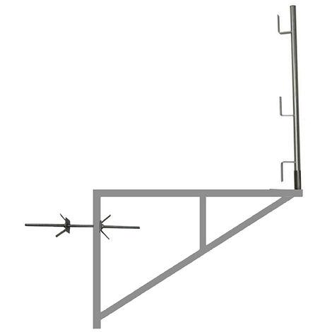 Console d'échafaudage zinguée 1.00m x 1.50m (plusieurs tailles disponibles)