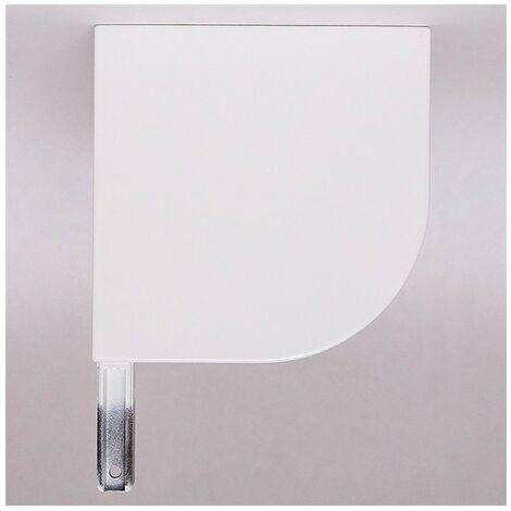 Console volet roulant rénovation 1/4 de rond, coloris Blanc - Gauche - Section coffre - 150mm - Blanc