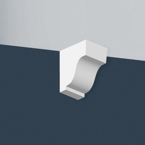 Console Orac Decor TF02 XTERIO Élement angulaire Élement décoratif design intemporel classique blanc