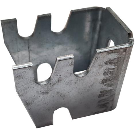 Console radiateur acier plissé à visser