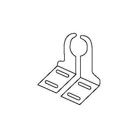 Console radiateur Fondital à visser droite, 1 pièce