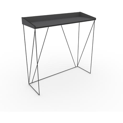 Console, structure métallique noir D : 100x35x75cm
