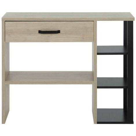 Console style industriel un tiroir avec étagères - Fabrication Française - CaliCosy