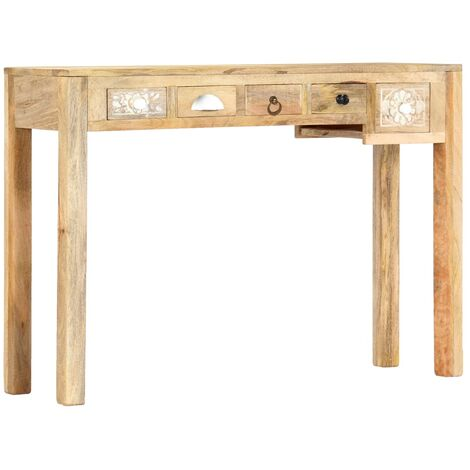 Console Table 110x30x75 cm Solid Mango Wood