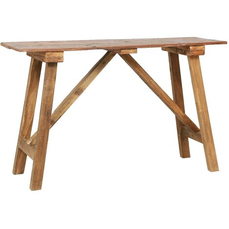 Console Table 130x40x80 cm Solid Reclaimed Wood