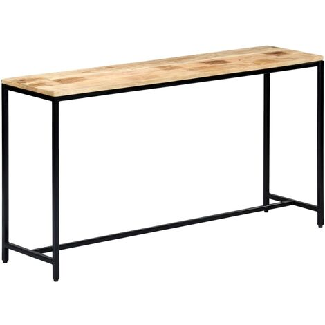 Console Table 140x35x76 cm Solid Rough Mango Wood