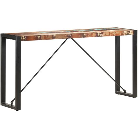 Console Table 150x35x76 cm Solid Reclaimed Wood