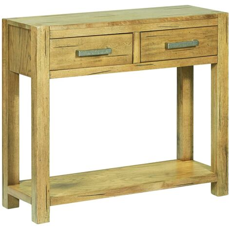 Console Table 83x30x73 cm Rustic Oak Wood